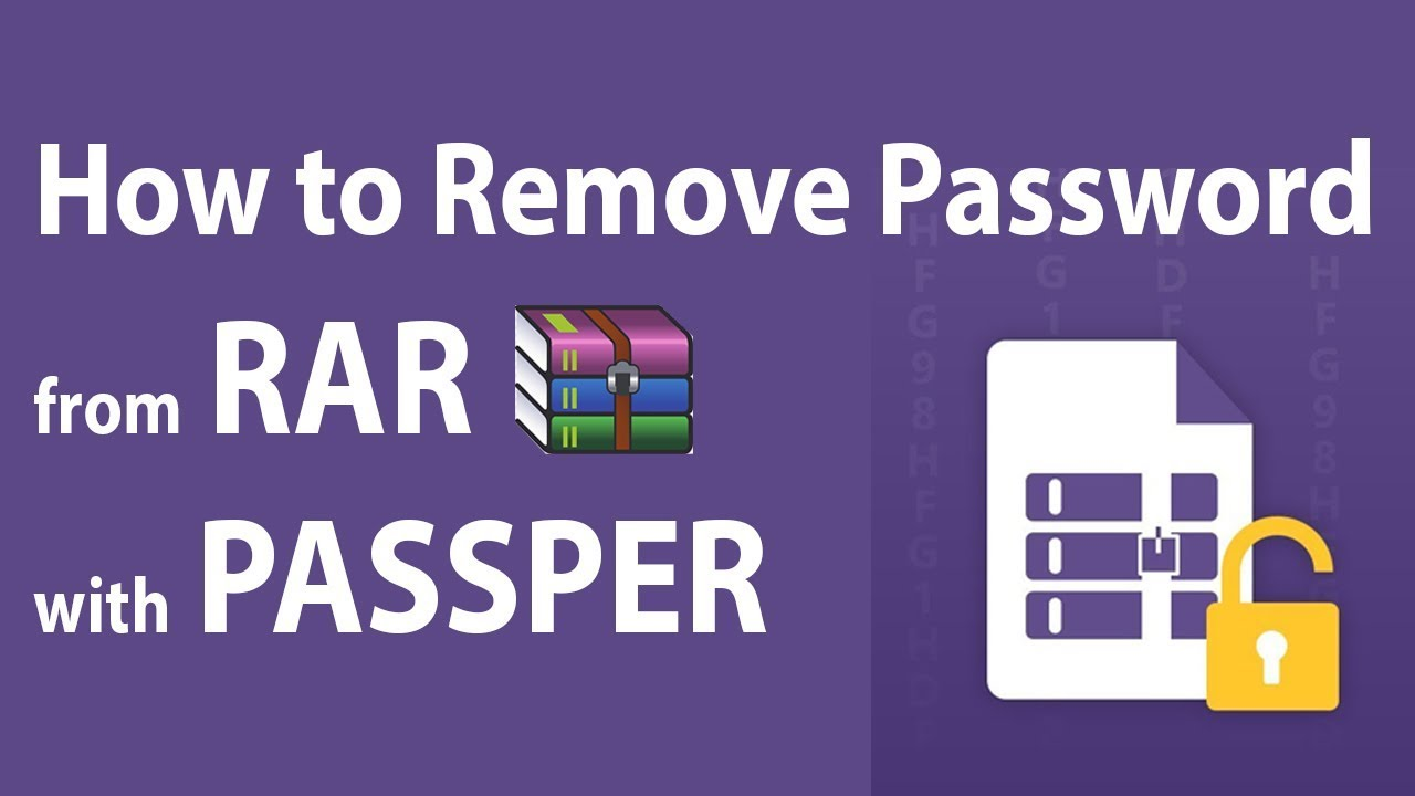 How to Remove RAR Password with Passper 2019 Full