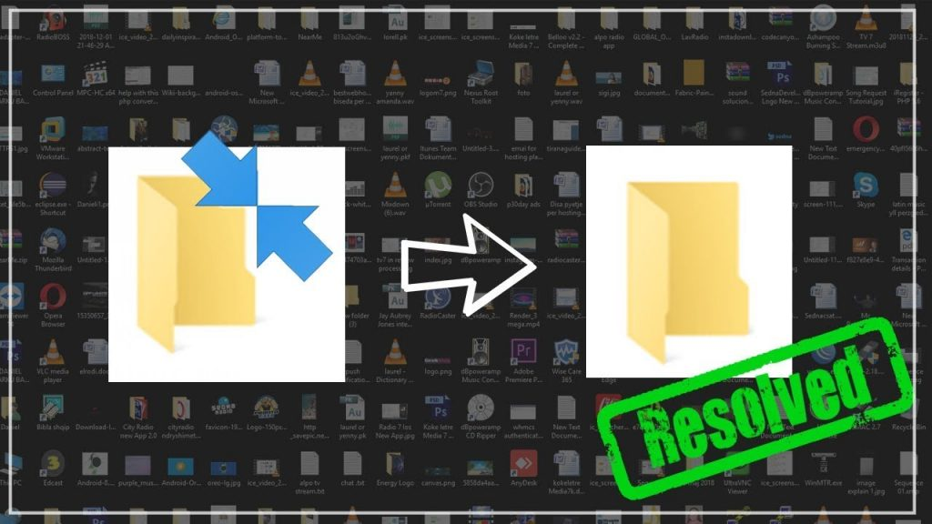 How to remove Double Blue Arrows from every icons – Windows 10 (FIXED)