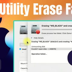 """How to Fix """"Erase Process Has Failed"""" on Mac Disk Utility – Tutorial 2020"""