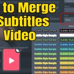 How to Merge SRT Subtitles with Video