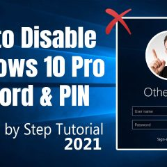 How to Remove Windows 10 Password and PIN