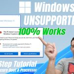 How to Install Windows 11 to Unsupported PC (Released Version October 5)