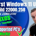 ✅(BIG FIXES) First Windows 11 Build 22000.258 Security Cumulative Update on Unsupported PC's